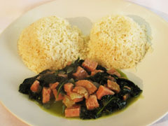 Grace Luncheon Meat Callaloo Stew