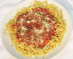 Spaghetti W/ Grace Picante Corned Beef