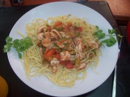 Spicy Shrimp Stew with Encona Jerk Bar-B-Que Sauce