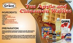Yus Apple and Cinnamon Waffles