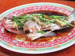 Steamed Whole Fish with Ginger and Scallion