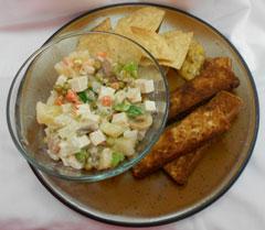 Tofu Cassava Salad