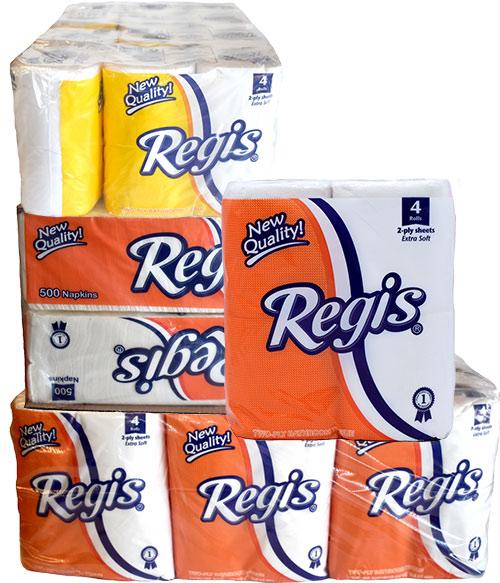 Regis toilet paper and paper towels